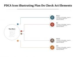 PDCA Icon Illustrating Plan Do Check Act Elements