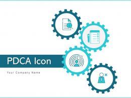 PDCA Icon Management Process Business Solutions Improvement Measures