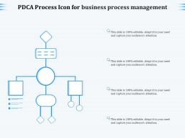PDCA Process Icon For Business Process Management