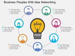 Pe Business Peoples With Idea Networking Flat Powerpoint Design