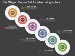 pe Six Staged Sequential Timeline Infographics Flat Powerpoint Design