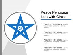 Peace Pentagram Icon With Circle