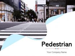 Pedestrian Crossing Across Assisting Indicating Commuting Movement