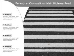 Pedestrian Crosswalk On Main Highway Road