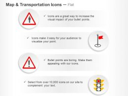 Pedestrian Danger Stop Traffic Light Ppt Icons Graphics