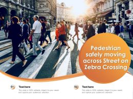 Pedestrian Safely Moving Across Street On Zebra Crossing