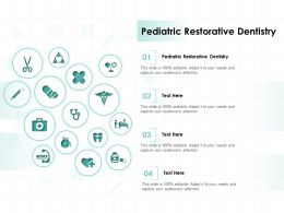 Pediatric Restorative Dentistry Ppt Powerpoint Presentation Infographics Guidelines