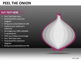 Peel The Onion Powerpoint Presentation Slides DB
