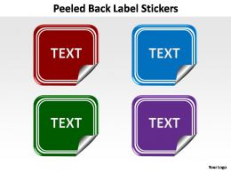 peeled back label stickers editable powerpoint templates