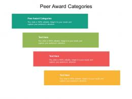 Peer Award Categories Ppt Powerpoint Presentation Summary Shapes Cpb
