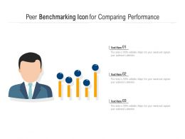 Peer Benchmarking Icon For Comparing Performance