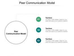 Peer Communication Model Ppt Powerpoint Presentation Icon Inspiration Cpb
