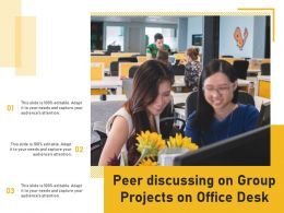 Peer Discussing On Group Projects On Office Desk