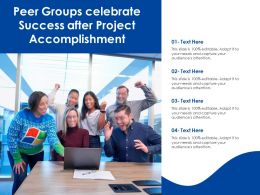 Peer Groups Celebrate Success After Project Accomplishment