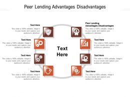 Peer Lending Advantages Disadvantages Ppt Powerpoint Presentation Inspiration Ideas Cpb