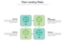 Peer Lending Risks Ppt Powerpoint Presentation File Graphics Tutorials Cpb