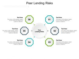 Peer Lending Risks Ppt Powerpoint Presentation Portfolio Format Ideas Cpb