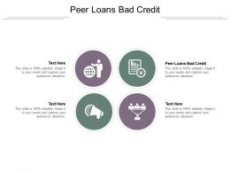 Peer Loans Bad Credit Ppt Powerpoint Presentation Gallery Outfit Cpb