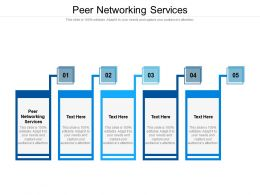 Peer Networking Services Ppt Powerpoint Presentation Inspiration Layouts Cpb