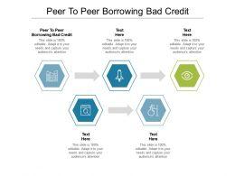 Peer To Peer Borrowing Bad Credit Ppt Powerpoint Presentation Ideas Graphics Cpb