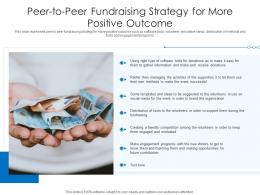 Peer To Peer Fundraising Strategy For More Positive Outcome