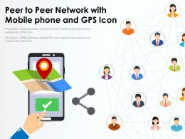 Peer To Peer Network With Mobile Phone And GPS Icon
