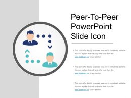 Peer To Peer Powerpoint Slide Icon
