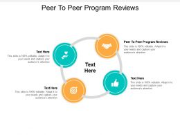 Peer To Peer Program Reviews Ppt Powerpoint Layouts Background Designs Cpb
