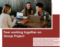 Peer Working Together On Group Project