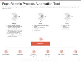 Pega Robotic Process Automation Tool Ppt Powerpoint Presentation File Themes