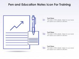 Pen And Education Notes Icon For Training