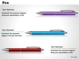 Pen Powerpoint Template Slide