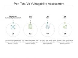 Pen Test Vs Vulnerability Assessment Ppt Powerpoint Presentation Slides Shapes Cpb
