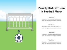Penalty Kick Off Icon In Football Match