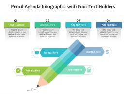 Pencil Agenda Infographic With Four Text Holders