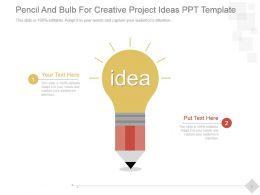 Pencil And Bulb For Creative Project Ideas Ppt Template