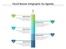 Pencil Banner Infographic For Agenda