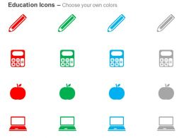 Pencil Calculator Apple Laptop Ppt Icons Graphics