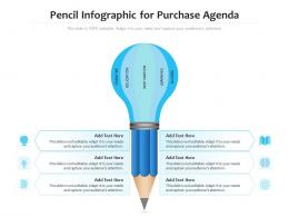 Pencil Infographic For Purchase Agenda