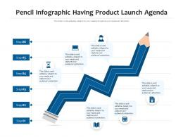 Pencil Infographic Having Product Launch Agenda