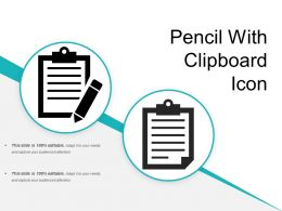 Pencil With Clipboard Icon