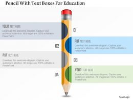 Pencil With Text Boxes For Education Powerpoint Template