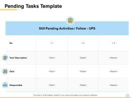 Pending Tasks Template Ppt Powerpoint Presentation Portfolio Slide