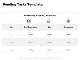 Pending Tasks Template Ppt Powerpoint Presentation Template