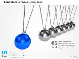Pendulam For Leadership Idea Image Graphics For Powerpoint