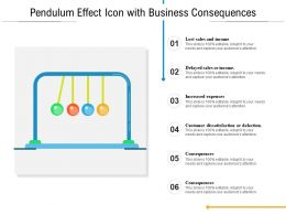 Pendulum Effect Icon With Business Consequences