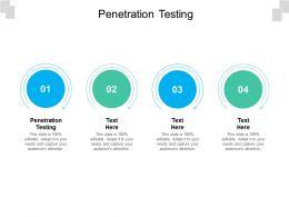 Penetration Testing Ppt Powerpoint Presentation Slides Design Templates Cpb