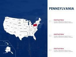 Pennsylvania Map Powerpoint Presentation PPT Template