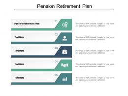 Pension Retirement Plan Ppt Powerpoint Presentation Outline Brochure Cpb