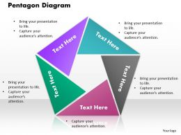 Pentagon Diagram PowerPoint Template Slide